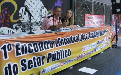 MEMBROS DA DIRETORIA LOCAL DO SINDIRECEITA PARTICIPAM DO I ENCONTRO ESTADUAL DOS TRABALHADORES DO SERVIÇO PÚBLICO EM SÃO PAULO/SP